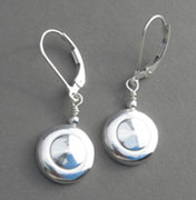 Earrings - Tiny Trill Key with Silver Ball