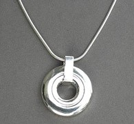 Necklace - Contemporary Open Hole Pendant