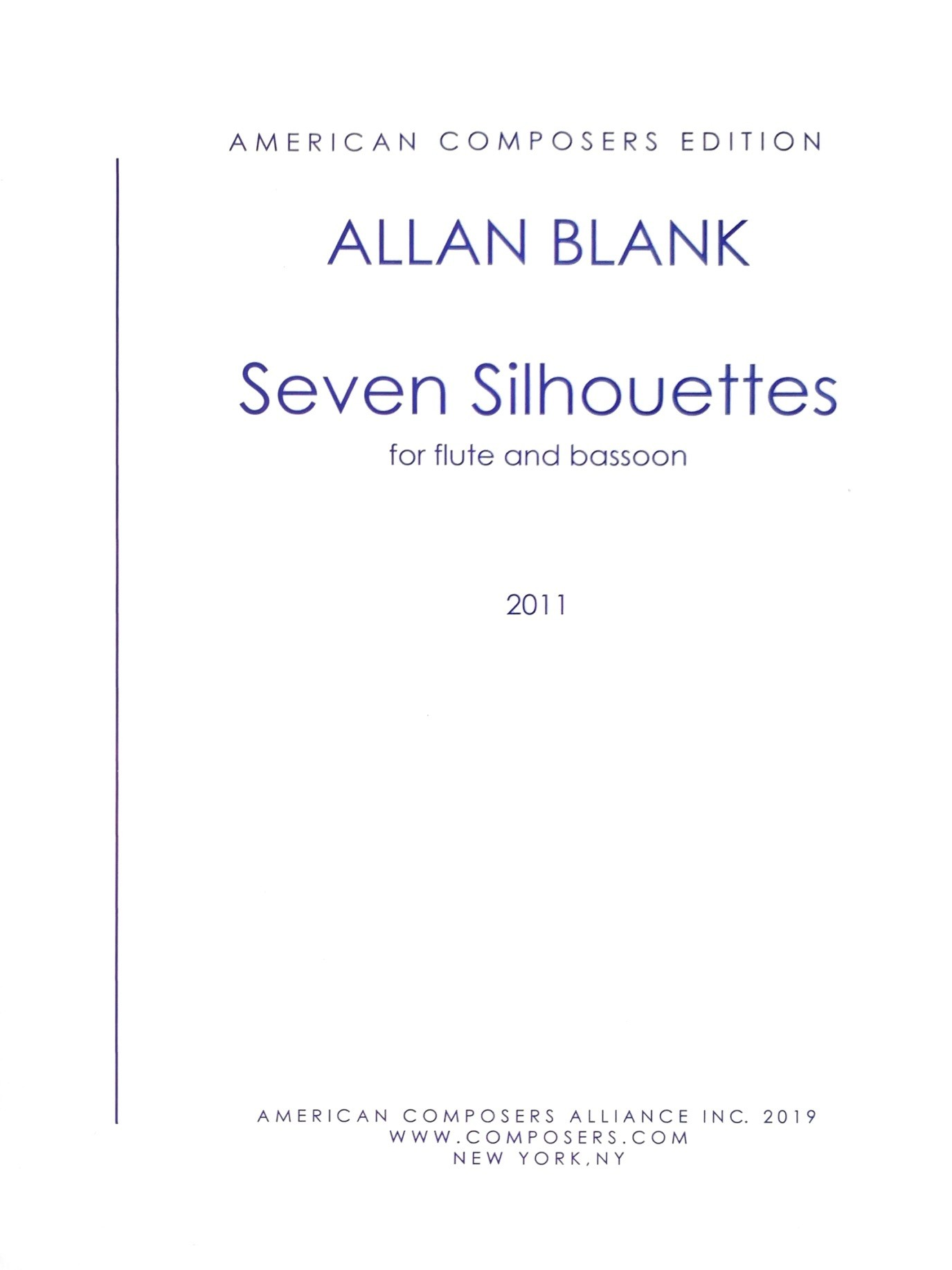Blank, A :: Seven Silhouettes