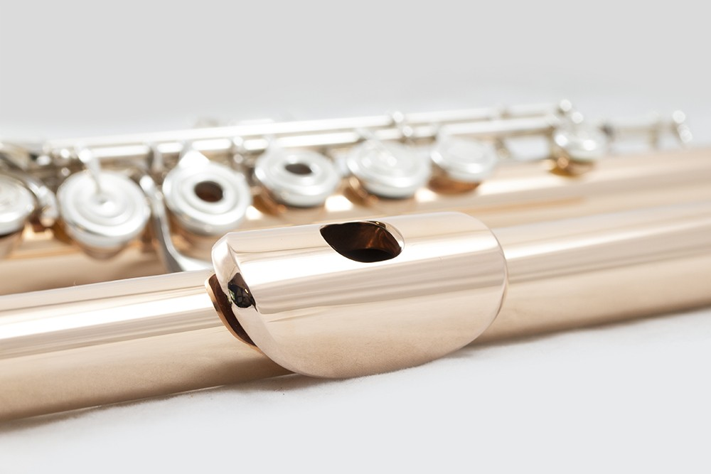 Brannen Brothers Flute 14k Rose or White Gold with Sterling Silver Mechanism