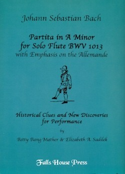 Bach, JS :: Partita in A minor for Solo Flute BWV 1013 with Emphasis on the Allemande