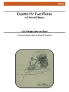 Bach, CPE :: Duetto for Two Flutes in E Minor/G Major