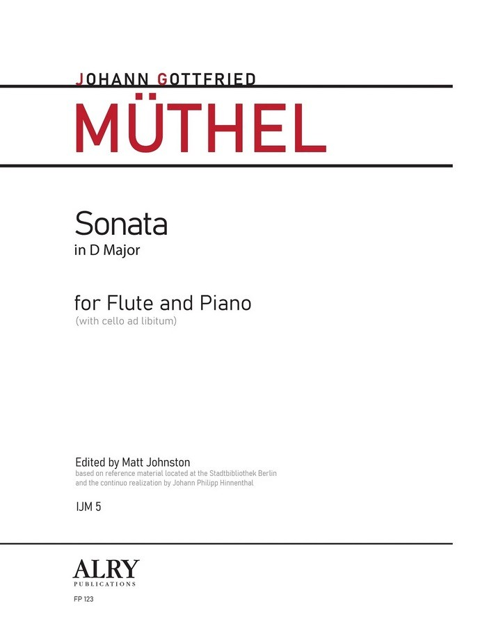 Muthel, JG :: Sonata in D Major