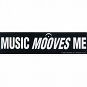 Bumper Sticker - Music Mooves Me