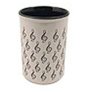 Ceramic Pencil Cup with Mini G Clefs