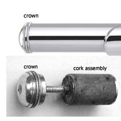 flute crown cork assembly