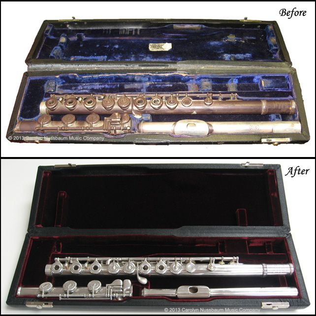 Flute Before After Clean,Oil and Adjust