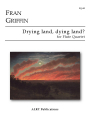 Griffin, F :: Drying land, dying land?