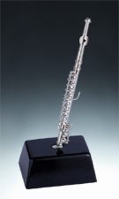 Miniature Silver Flute on Base
