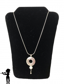 Necklace - Open Hole Key and Single Pearl