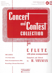 Various :: Concert and Contest Collection: Flute - Solo Book with Audio (Piano PDF)