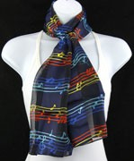 Scarf - Multi Color Music Notes