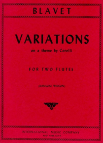 Blavet, M :: Variations on a Theme by Corelli