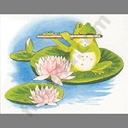 Note Cards - Frog Playing Flute