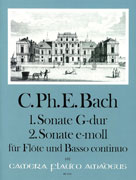 Bach, CPE :: 1. Sonate G-dur | 2. Sonate e-moll [1st Sonata in G major | 2nd Sonata in E minor]