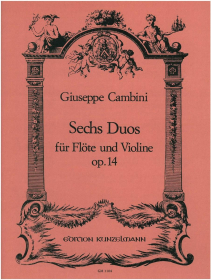 Cambini, G :: Sechs Duos [6 Duos] op. 14