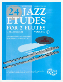 Holcombe, B :: 24 Jazz Etudes for Two Flutes Vol. 1