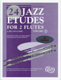 Holcombe, B :: 24 Jazz Etudes for Two Flutes Vol. 2