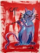 Painting - Madame Kitty with Flute