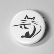 Button - Cat-Hi With Flute