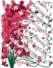 Boxed Note Cards - Floral Sheet Music