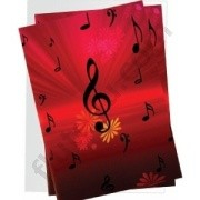 Note Card - Treble Clef and Flowers