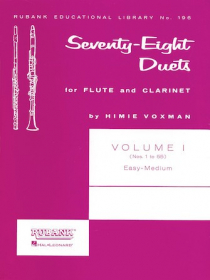 Various :: Seventy-Eight Duets for Flute and Clarinet - Volume I