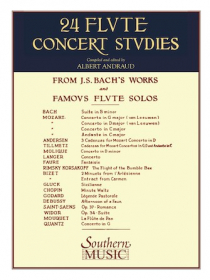 Various :: 24 Flute Concert Studies from J.S. Bach's Works and Famous Flute Solos