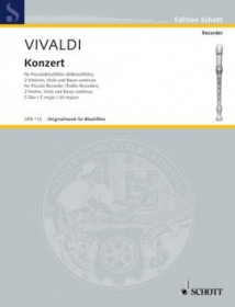 Vivaldi, A :: Piccolo Concerto C Major RV 443, Op. 44, No. 11 (Score)