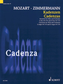 Zimmerman,  BA :: Kadenzen [Cadenzas]: Concertos for Flute and Orchestra, G Major KV 313 and D Major KV 314