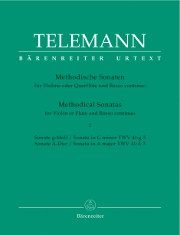 Telemann, GP :: Methodische Sonaten [Methodical Sonatas] Vol. I