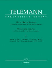 Telemann, GP :: Methodische Sonaten [Methodical Sonatas] Vol. VI