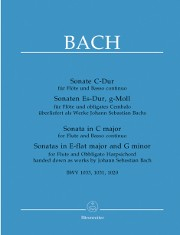 Bach, JS :: Sonate C-Dur | Sonate Es-Dur | Sonate g-Moll [Sonata in C major | Sonata in E-flat major | Sonata in G minor]