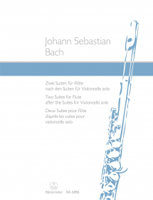 Bach, JS :: Zwei Suiten fur Flote nach den Suiten fur Violoncello solo [Two Suites for Flute after the Suites for Violoncello solo]
