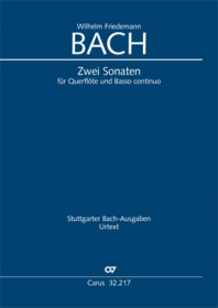 Bach, WF :: Zwei Sonaten in e-Moll und F-Dur [Two Sonatas in e minor and F Major] BR-WFB 17 und 18