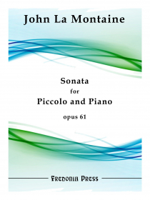 La Montaine, J :: Sonata for Piccolo and Piano op. 61