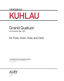 Kuhlau, F :: Grand Quatuor in D minor, op. 103