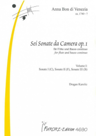 Bon, A :: Sei Sonate da Camera [Six Sonatas da Camera] Op. 1 - Volume 1