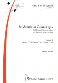 Bon, A :: Sei Sonate da Camera [Six Sonatas da Camera] Op. 1 - Volume 2