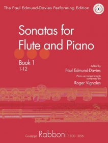 Rabboni, G :: Sonatas for Flute and Piano: Book 1 (1-12)