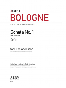 Bologne, J :: Sonata No. 1 in B-flat Major, Op. 1a