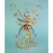 Butterfly Flute Fairy Candle Holder