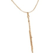 Flute Gold Necklace