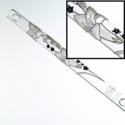 White Lily Hall Crystal Flute