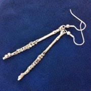 Earrings - Pewter Flute