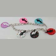 Bracelet - Treble Clef and Jeweled Disk Charms