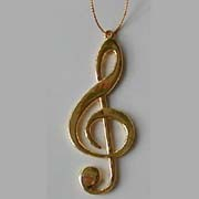 Ornament Brass G-Clef
