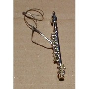 Silver Finish Flute Ornament - Small