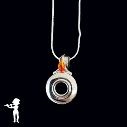 Necklace - Limited Edition Open Hole Key with Flame of Hope Crystal