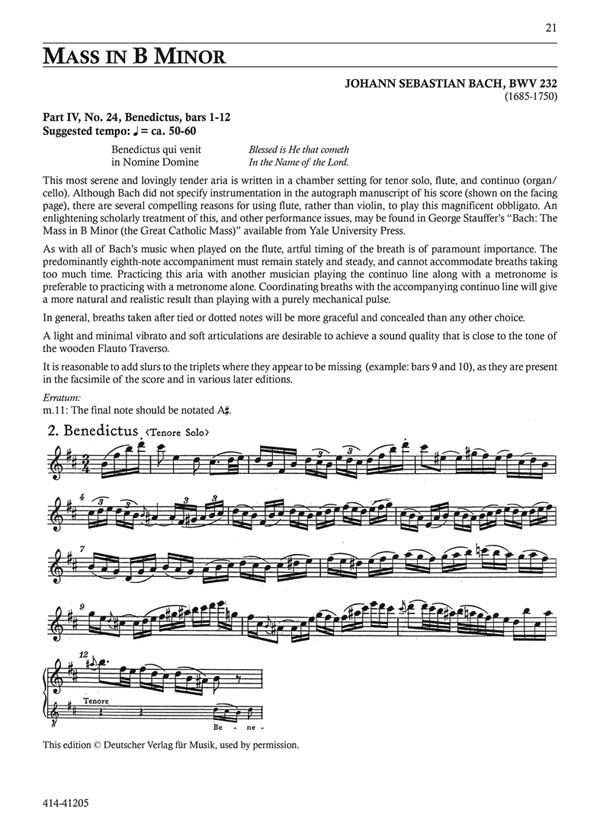 Orchestral Excer Parts For Flute Baxtresser Jeanne FLUTE SHEET MUSIC BOOK